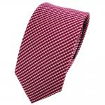 Schmale TigerTie Seidenkrawatte rot blau lachs silber gepunktet - Krawatte Seide