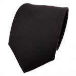 Schicke Designer Krawatte schwarz einfarbig Uni - Schlips Binder Tie