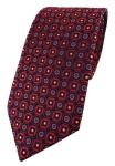 TigerTie Designer Krawatte in rot blau silber schwarz gemustert
