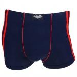 Boxershorts Pants Retro Shorts Unterhose dunkelblau-rot Baumwolle Gr. 3XL