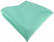 TigerTie Satin Einstecktuch in grün mint einfarbig Uni - Größe 26 x 26 cm