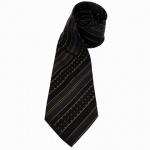 feine Mexx Seidenkrawatte schwarz gold gestreift - Krawatte Seide Tie