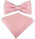 Kleinkinder Baby Fliege in rosa mit Gummizug + Einstecktuch + Box