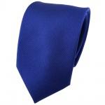 Seidenkrawatte royal Uni Rips - Krawatte 100% Seide - Breite 7cm x 150cm Länge