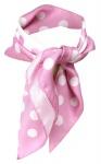 TigerTie Seiden Nickituch in rosa weiss gepunktet - 50 x 50 cm - 100% Seide
