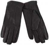 Herren Lederhandschuhe in schwarz mit Innenfutter aus Wolle - Handschuh Gr. 8, 5