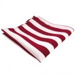 schönes TigerTie Einstecktuch in rot signalrot weiss gestreift - 100% Polyester