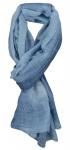 TigerTie Designer Schal in hellblau blau Jeansfarbe Uni - Tuch Gr. 180 x 100 cm