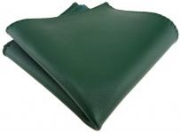 TigerTie Ledereinstecktuch in grün einfarbig Uni - Einstecktuch 100% Lammnappa