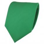 TigerTie Designer Krawatte grün knallgrün leuchtgrün Uni Rips - Binder Tie