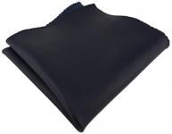 TigerTie Ledereinstecktuch in schwarzblau einfarbig- Einstecktuch 100% Lammnappa