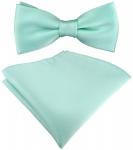 SET Kleinkinder Baby Fliege in mint grün mit Gummizug + Einstecktuch + Box