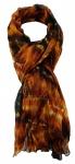 TigerTie Chiffon Schal in rotbraun schwarz creme gemustert - Gr. 180 x 100 cm