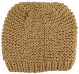 Damen Strickmütze beige Uni - Wintermütze Mütze Größe M