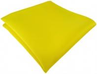 TigerTie Satin Einstecktuch in gelb einfarbig Uni - Größe 26 x 26 cm