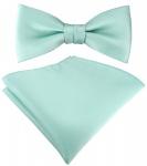 SET Kleinkinder Baby Fliege in mint grün Fliege verstellbar + Einstecktuch + Box