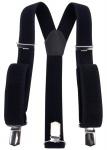 breiter Hosenträger in schwarz Uni mit Clip - verstellbar 75 bis 120 cm