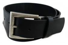 TigerTie - Wasserbüffelledergürtel schwarz - Bundweite 100 cm - 40 mm breit