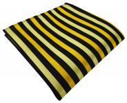 TigerTie Einstecktuch in gold schwarz gestreift - Tuch Polyester Gr. 25 x 25 cm
