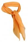 TigerTie Damen Chiffon Nickituch in orange - Gr. 50 x 50 cm -Tuch Halstuch