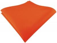 TigerTie Designer Einstecktuch in orange leuchtorange einfarbig uni Rips