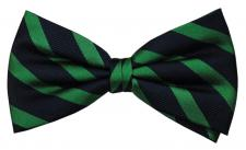 Designer Seidenfliege grün smaragdgrün blau royal gestreift - Fliege Seide