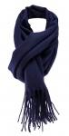 Schal in dunkellila Uni einfarbig mit Fransen - Winterschal Größe 50 x 180 cm