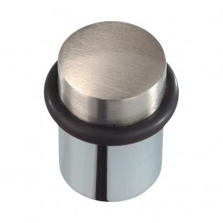 Türstopper Messing matt vernickelt/verchromt, Höhe 44 mm - Vorschau