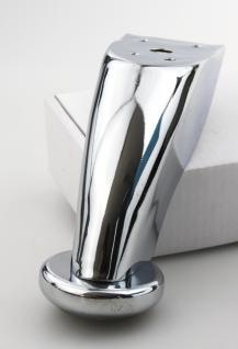 Möbelfuss Sofafuss Schrankfuss aus Stahl in Chrom glänzender Optik Höhe 90mm