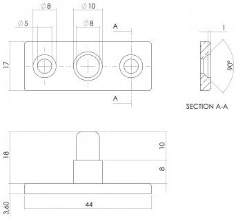 Intersteel Stellstift Messing lackiert - Vorschau 2