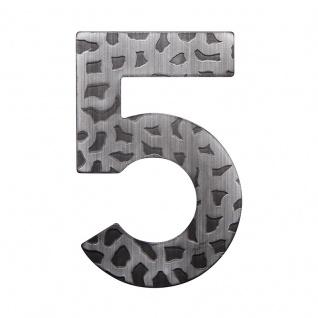 Hausnummern Schmiedeeisen schwarz verzinkt, Ziffer: 5