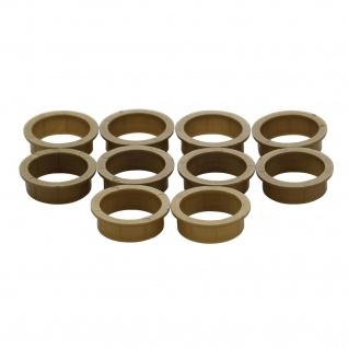 Intersteel 10 Nylonringe 20-18 mm braun