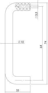Intersteel Möbelgriff Weiß 74 mm - Bohrmaß 64 mm - Vorschau 2