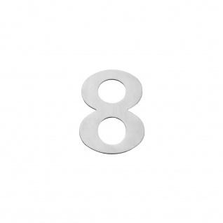 Intersteel Hausnummer 8 150 x 2mm gebürsteter Edelstahl