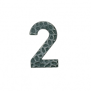 Hausnummern Schmiedeeisen schwarz verzinkt, Ziffer: 2