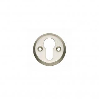 Intersteel PZ-Schutzrosette rund mit Schraublöchern Nickel matt