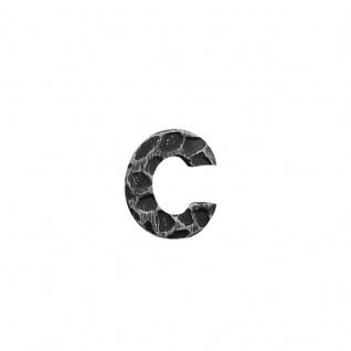 Hausnummern Schmiedeeisen schwarz verzinkt, Buchstabe: c - Vorschau