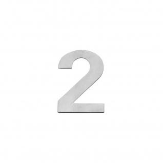Intersteel Hausnummer 2 150 x 2mm gebürsteter Edelstahl