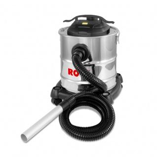 Vollautomatischer Aschesauger 1200 W, Behältervolumen 20 l, mit Blasfunktion und Selbstreinigungs-System über Vibration
