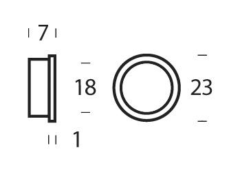 Intersteel 10 Nylonringe 20-18 mm Schwarz - Vorschau 2