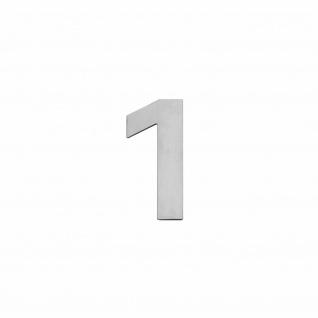 Intersteel Hausnummer 1 150 x 2mm gebürsteter Edelstahl