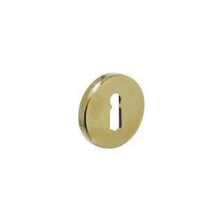 Intersteel Rosette mit Schlüsselloch Messing Titan PVD