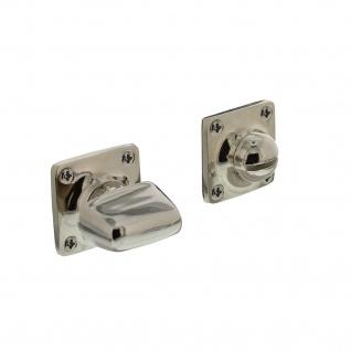 Intersteel Rosette mit Toiletten-/Badezimmerverriegelung quadratisch basic Nickel - Vorschau 1