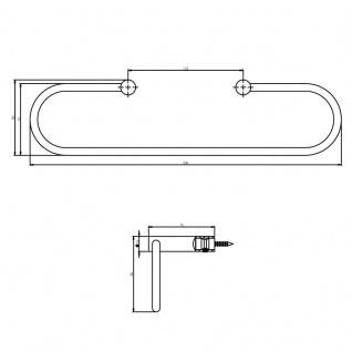 Intersteel Handtuchhalter Oval gebürsteter Edelstahl - Vorschau 2
