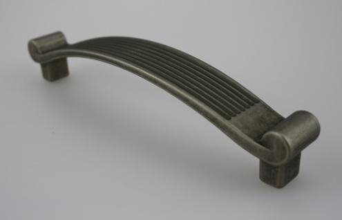 Möbelgriff Schubladengriff Schrankgriff aus Metall - Altsilber - Lochabstand 128 mm