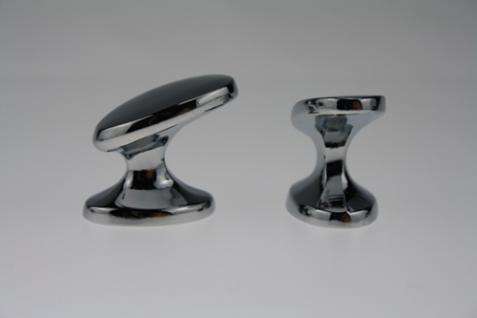 Möbelknopf Möbelgriff Schubladengriff Schrankgriff aus Metall - Chrom glänzend