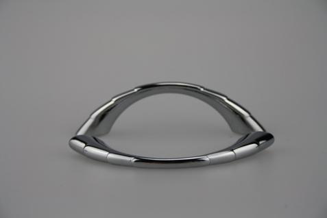 Möbelgriff Schrankgriff aus Metall - Chrom glänzend - Lochabstand 64 mm