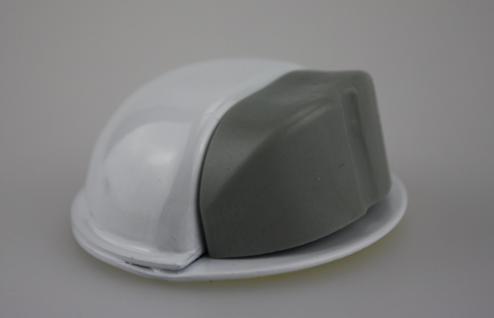 Türstopper Türpuffer Bodentürstopper aus Metall - Weiß