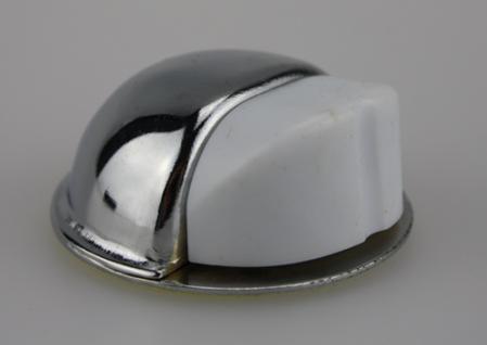 Türstopper Türpuffer Bodentürstopper aus Metall - Chrom glänzend