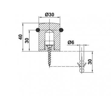 Türstopper Türpuffer Bodentürstopper aus Metall in echt Edelstahl - Vorschau 2